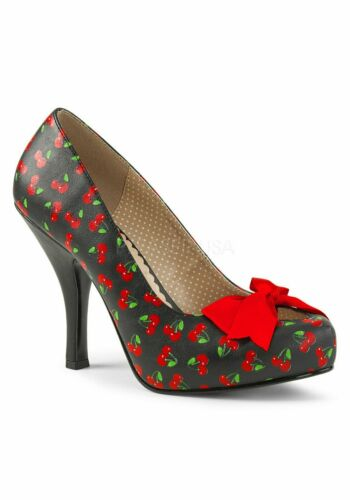 Details about  /Pleaser PINUP-05 4 1//2 Inch Heel 3//4 Inch Platform Pump With Bow
