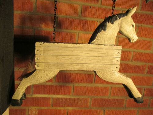 """/""""HORSE/"""" Replacement Sign 3-D Resin Sign for Country Arrow Holders"""