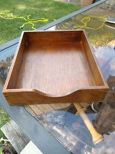 Vintage Wooden Paper Tray Letter Holder File Box Office Desk Organizer Box Joint