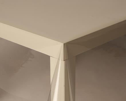Longitud de 137 cm de ancho x 300 Cm de aceite de PVC Vinilo Mantel Rojo Azul 6-8 asientos beige