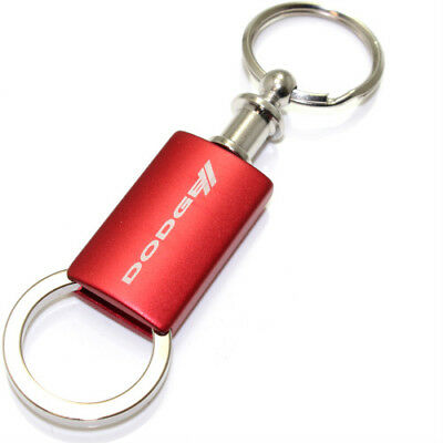 Jeep Grille Logo Metal Satin Chrome Valet Pull Apart Key Chain Ring Fob