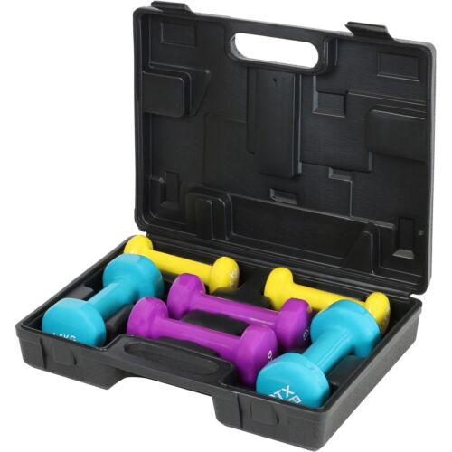 DTX fitness musculation main poids Set /& CASE Home Gym//exercice//Tonifiant//aérobic