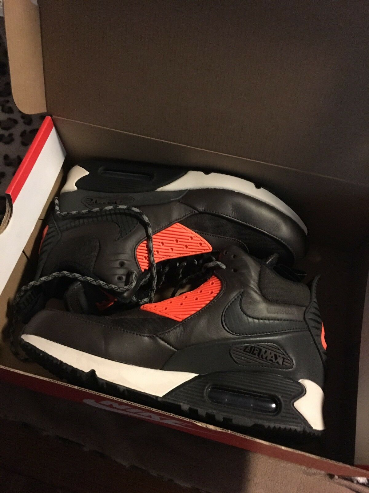 Nike air sneakerboot max 90 nuovi uomini sneakerboot air raro impermeabile nero taglia 6,5 f33dad