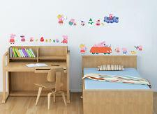 Peppa pig Wall Decor Vinyl Decal Stickers Removable Nursery Kids Baby Art