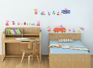 Image Is Loading Peppa Pig Wall Decor Vinyl Decal Stickers Removable  Part 72