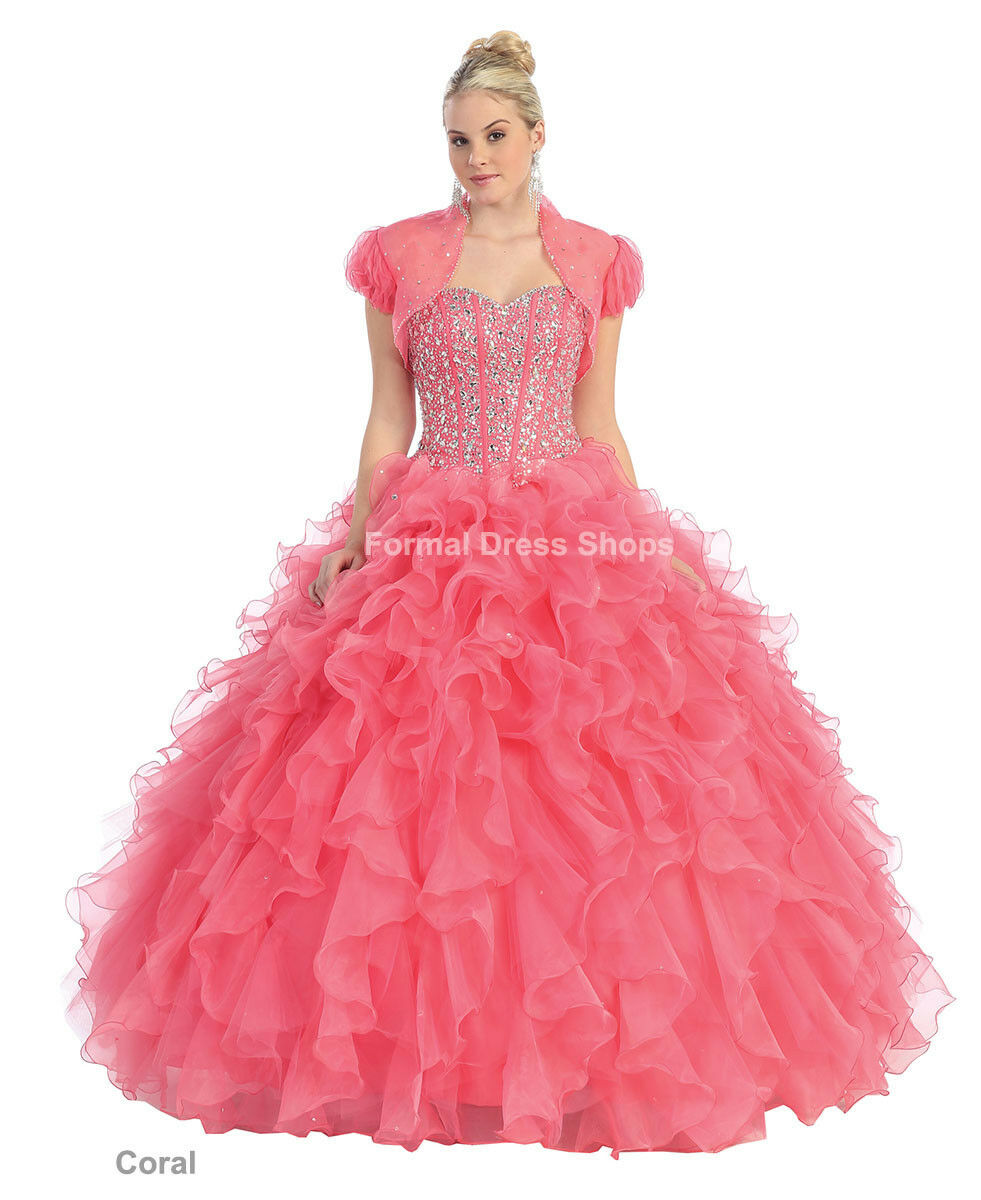 MASQUERADE QUINCEANERA BALL DRESS PAGEANT MILITARY WEDDING