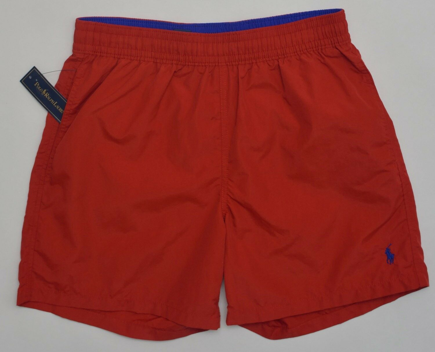 Men's POLO RALPH LAUREN Red Swimsuit Trunks Extra Large XL NWT  Royal bluee Pony