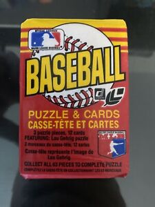 1985-Donruss-Leaf-Baseball-Puzzle-amp-Cards-Wax-Pack-Canadian-Version-Unopened