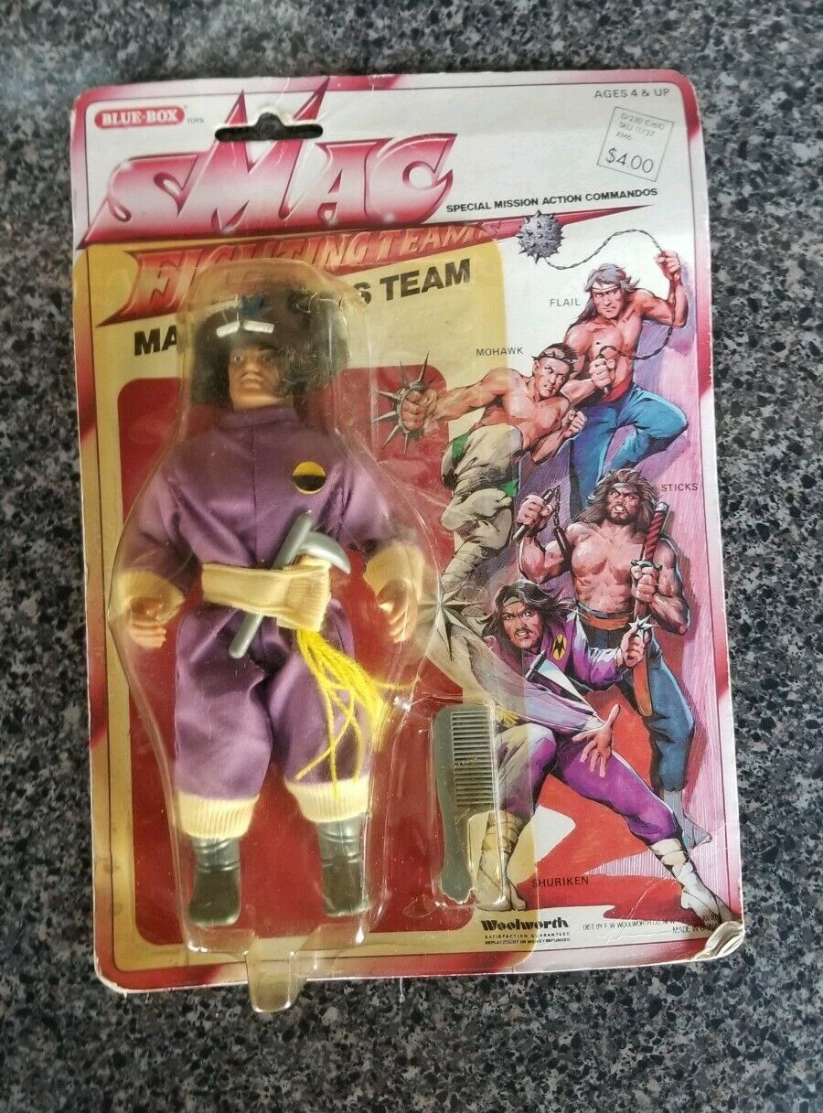 Rara Vintage SMAC KO Amos del Universo REMCO lucha equipo-Shuriken Moc Woolworths figura