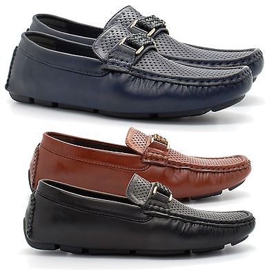 Da Uomo Slip On Mocassini Casual Boat Deck Mocassino Designer Di Guida. Tg Uk-mostra Il Titolo Originale