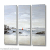 Hill Interiors Beachfront 3 Piece Art Print On Canvas Set