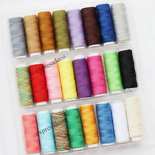 Lot de 24 bobines couleurs 200m  FIL A COUDRE machine et main en polyester