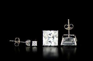 Princess-Square-Cut-CZ-Cubic-Zirconia-Sterling-Silver-Stud-Earrings