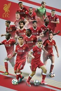"LIVERPOOL FC 2017/2018 PLAYERS POSTER ""LICENSED"" (61X91.5cm) ""BRAND NEW"" EPL"