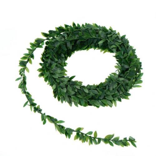 Soie Couronne De Feuilles Vertes fil de fer fleur de vigne en rotin pour Mariage Fête À faire soi-même