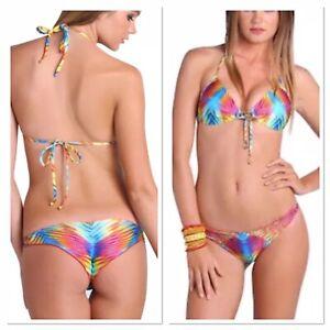 a70454a7386e9 NWT M Top/XS Luli Fama Playa Verano Multi Strings Strappy Brazilian ...