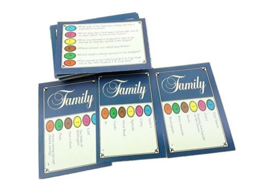 Trivial Pursuit Edizione Famiglia VECCHI Player 50 SCHEDE DOMANDA matrimoni Viaggi