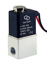 1/8 Inch Direct Acting Electric Air Water Solenoid Valve Normally Closed 110V AC