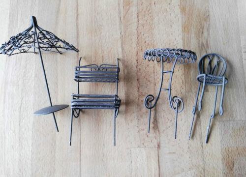 Urban Gardening casa de muñecas muebles muebles de jardín metal 1:12 1//12 metal elfengarten