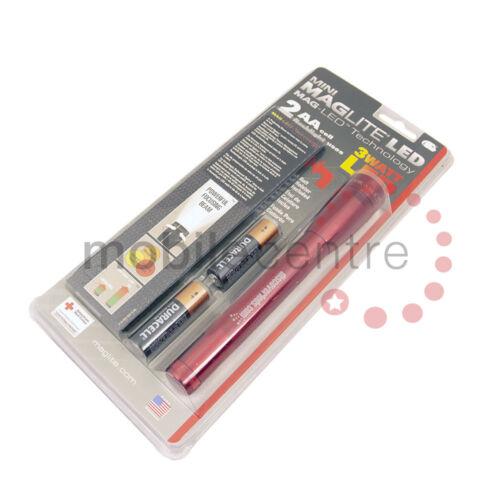 DEL Rouge Mini Maglite 2 LR06 AA cellulaire Étui de ceinture Lampe de Poche Torche facture de TVA