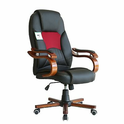 FoxHunter Computer Executive Office Chair PU Leather Swivel High Back OC02 Black
