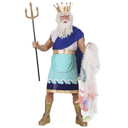 POSEIDON HERREN KOSTÜM # Karneval Griechischer Wasser Meeres Götter Neptun 7360