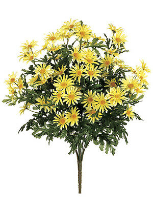 "6 Artificial 24/"" Farmhouse Daisy Bush Yellow Silk Flower Bouquet Wedding Decor"