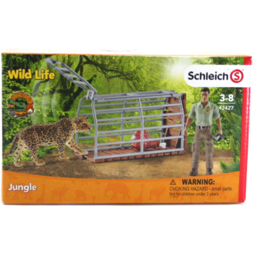 Schleich Wild Life Trap with Ranger 42427 NEW