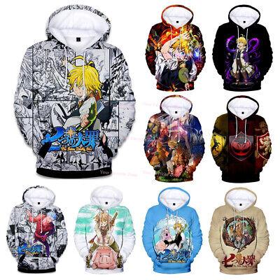 The Seven Deadly Sins Anime Hoodie Nanatsu no Taizai Manga Hooded Pullover Tops
