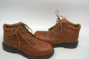 3077f1a2fd8 Ariat Women's 8.5 B Macey Brown Leather Comp Toe Lace Up Work Boots ...