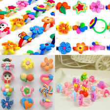 30pcs Wholesale Lots Mixed Children Girls Polymer Clay Rings Fashion Jewelry
