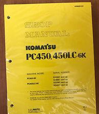 Komatsu PC450-6K, PC450LC-6K Service Repair Printed Manual