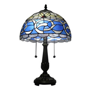 Image Is Loading Antique Tiffany Style Table Lamp Stained Gl Desk