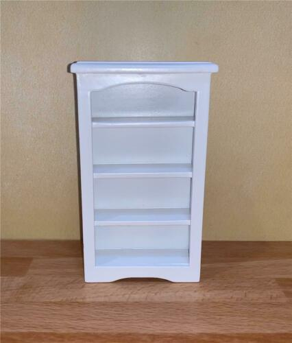 MINIATURE DOLLHOUSE 1:12 SCALE WHITE BOOKCASE T5259