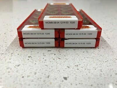 WCMX 08 04 12 T-53 Grade 1020 Sandvik Carbide Inserts 10 PCS