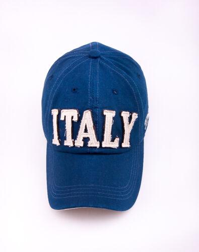 NM458 Blue Men Cute Cotton Baseball Cap Buckle-back Sports Sun Hat Letters ITALY