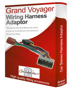 chrysler grand voyager cd radio stereo wiring harness adapter lead image is loading chrysler grand voyager cd radio stereo wiring harness