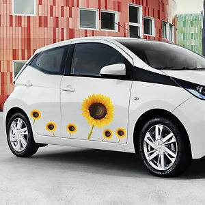 Sunflower Decal Car Stickers Graphics Window Wall Body Panel New