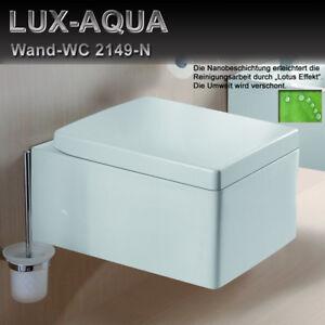 Wand Hänge WC Eckig inkl Nano-Beschichtung Soft-Close Deckel ...