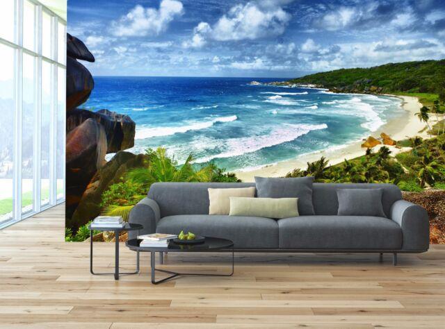Idyllic Tropical Beach 3d Wallpaper Mural Wall Paper