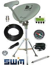 DirecTV SWM SL5S Portable Satellite RV Dish Kit Camping Tailgating with Tripod