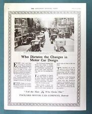 Original 1920 Packard Car Ad WHO DICTATES THE CHANGES IN MOTOR CAR DESIGN