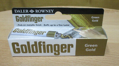22ml (47,68 €/100ml) GOLDFINGER METALL-PASTE GRÜN GOLD METALLBRONZE GREEN GOLD