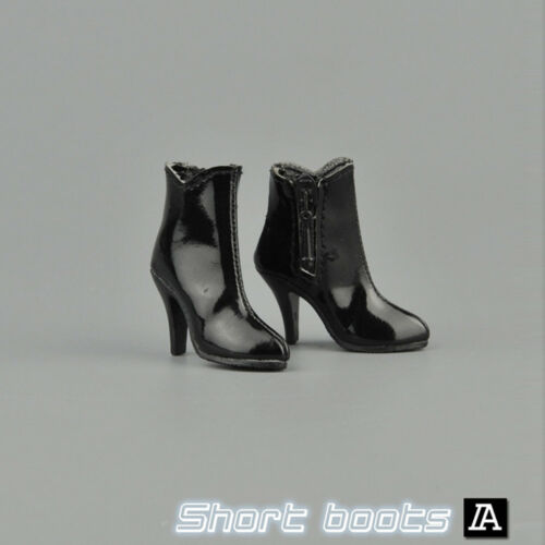 ZYTOYS-1/6 Scale Female Short Boots Black Shoes Fit for 12 Action Figure ZY1005