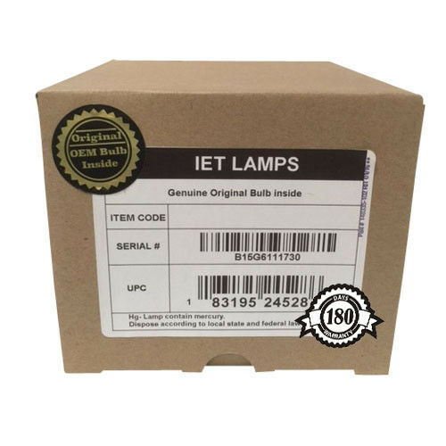 IET Lamps for PANASONIC PT-EZ770 Projector Lamp Replacement Assembly with Genuine Original OEM Ushio NSH Bulb Inside