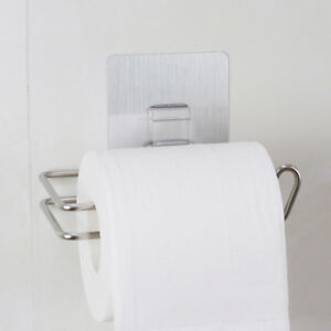Silver-Stainless-Steel-Bathroom-Toilet-Polished-Paper-Tissue-Roll-Holder-Mounted