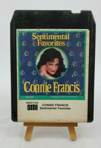 "VINTAGE Connie Francis ""Sentimental Favorites"" SM18-51AS 8 Track Tape Circa 1984"