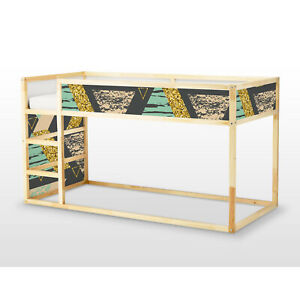 Ikea Kura Bed Removable Decal Self Adhesive Sticker Furniture Colorful Triangles Ebay