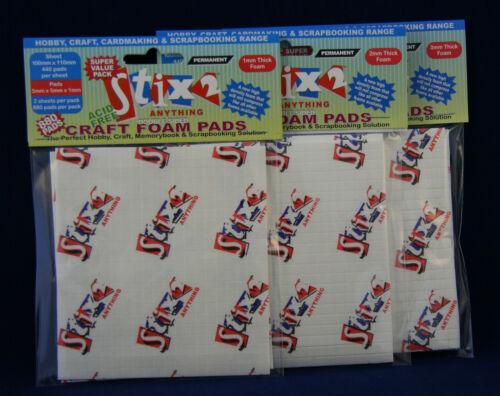 Stix2 almohadillas de espuma de alta densidad de doble cara 880 Almohadillas 5mm elección de densidad 1-2-3mm