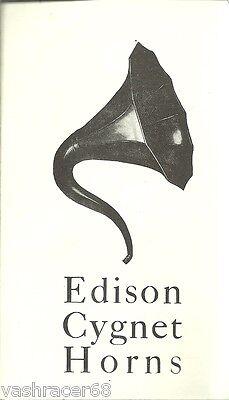 Edison Phonograph Cygnet Horn Brochure with Advert